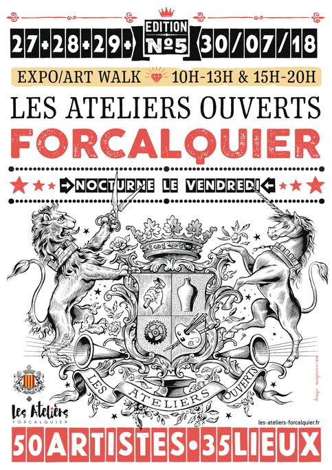 LES ATELIERS OUVERTS DE FORCALQUIER DU 27 AU 30 JUILLET https://www.les-ateliers-forcalquier.fr/